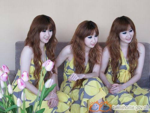 """上海三胞胎""""阳光梦组合"""""""